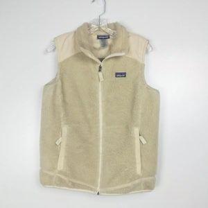 Patagonia Woman's Cream Vest Sz Large